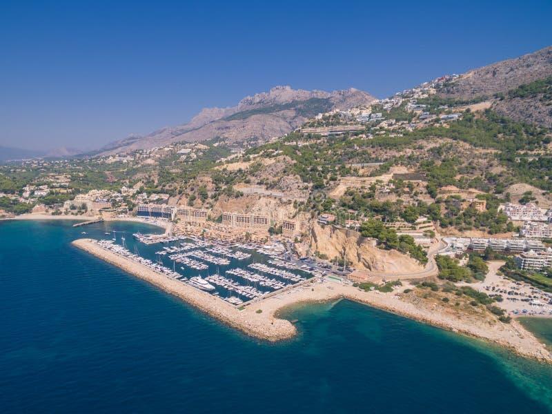 Mediterranean sea marina. Spain, Costa Blanca royalty free stock photography