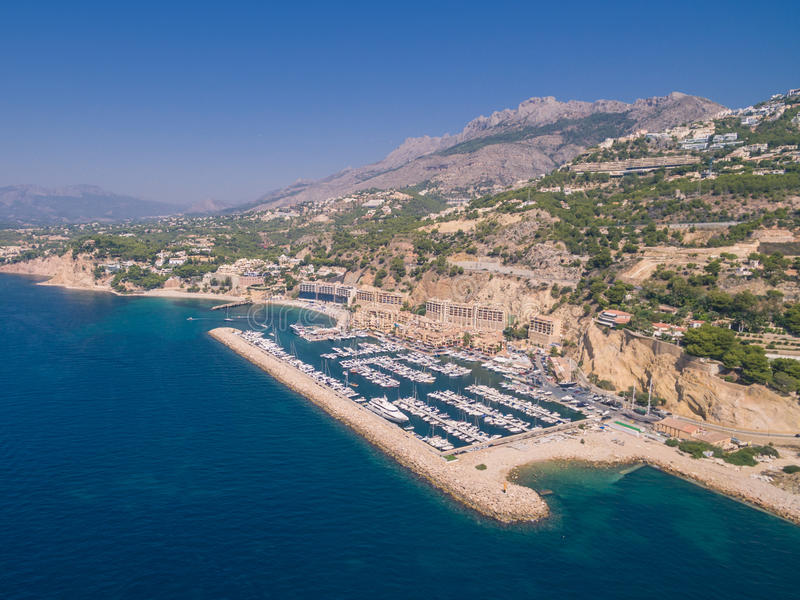 Mediterranean sea marina. Spain, Costa Blanca royalty free stock image