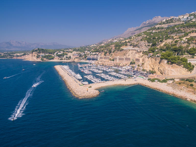 Mediterranean sea marina. Spain, Costa Blanca royalty free stock images