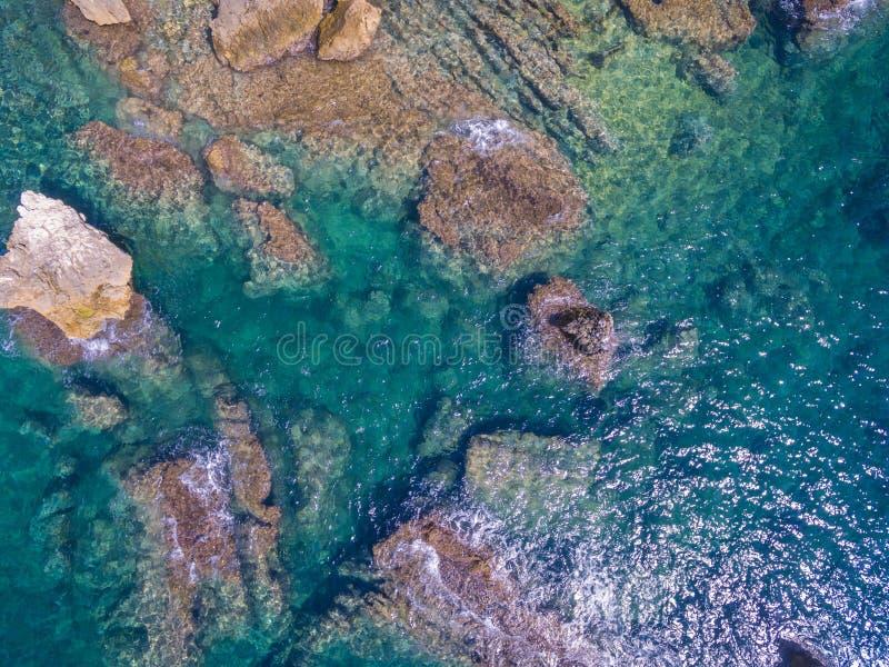 Mediterranean sea. Coast Spain, Costa Blanca royalty free stock images