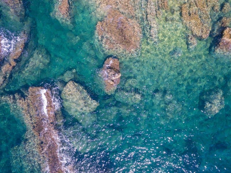Mediterranean sea. Coast Spain, Costa Blanca stock photography