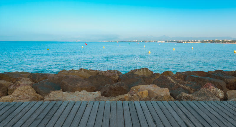 Mediterranean Sea nature background royalty free stock photo