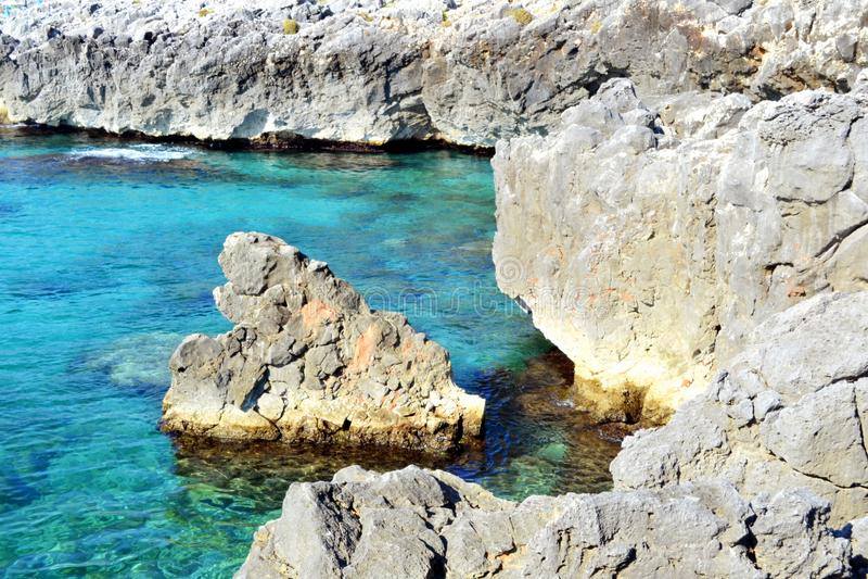 Mediterranean sea,puglia` `s sea royalty free stock images