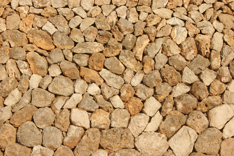 Mediterranean stone wall stock photo