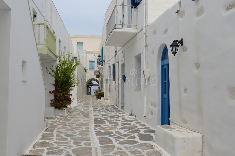 Download Mediterranean Street With White Houses And Blue Doors Editorial Stock Photo - Image of doors, island: 108884063