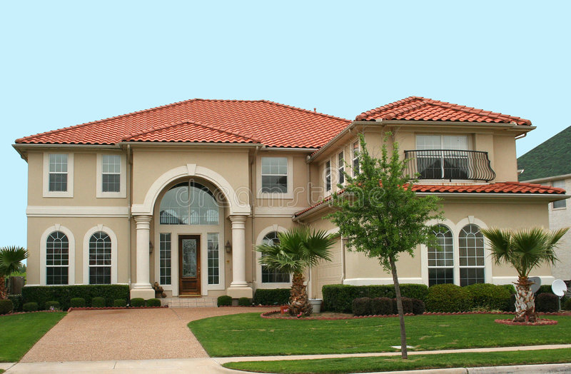 Download Mediterranean Style Home stock image. Image of real, blue - 2304901