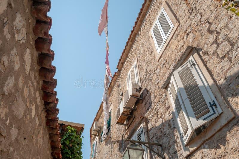 Mediterranean style house royalty free stock photos