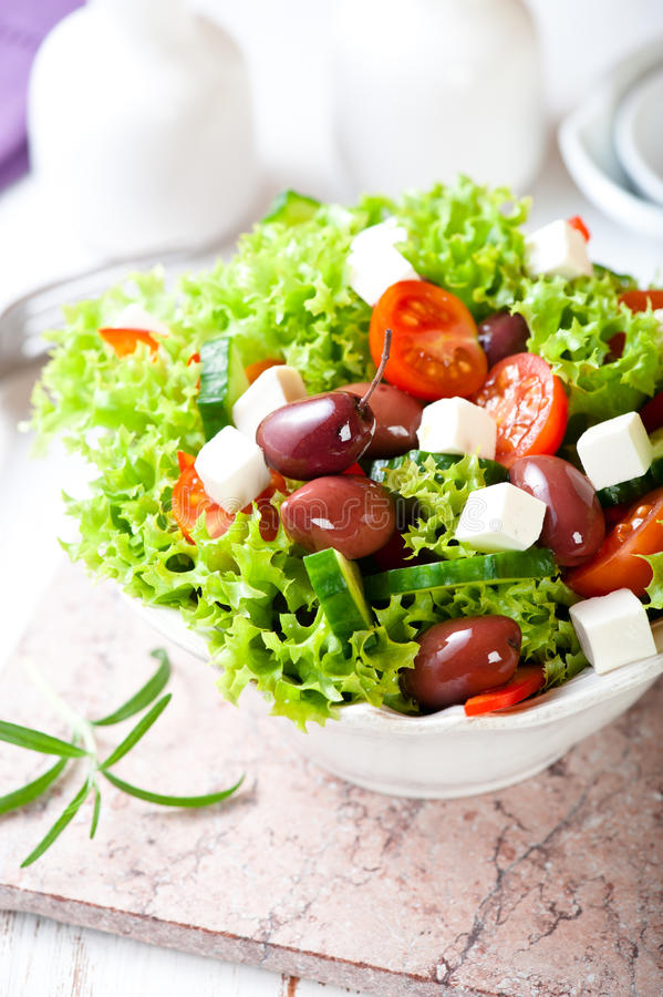 Download Mediterranean-style Salad With Goat Cheese Stock Photo - Image: 22647254