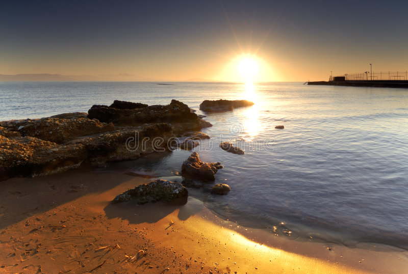 Download Mediterranean sunrise stock image. Image of beach, postcard - 3537811
