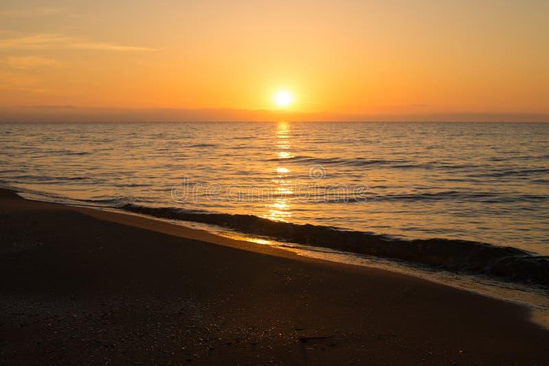 Mediterranean sunrise stock photos