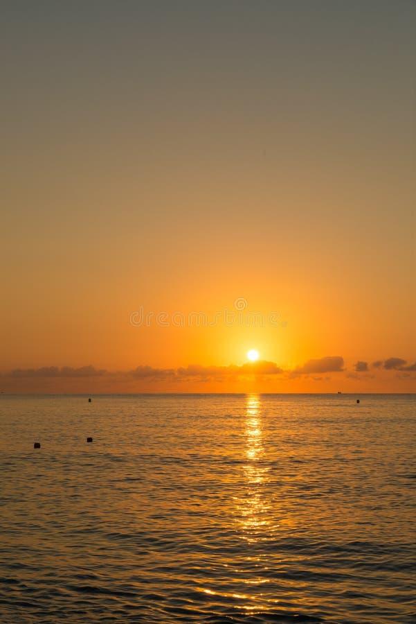 Mediterranean sunrise stock photo