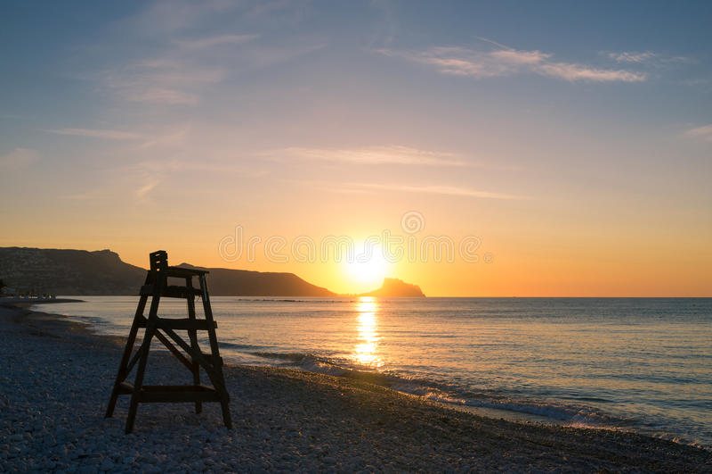Mediterranean sunrise royalty free stock photos