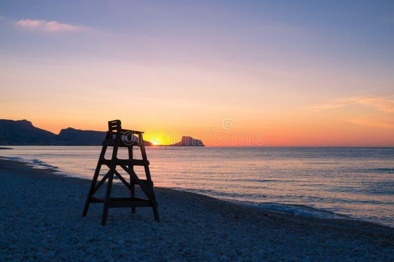 Mediterranean sunrise royalty free stock image