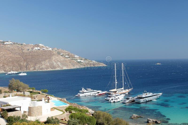 Mediterranean Super Yachts royalty free stock photo
