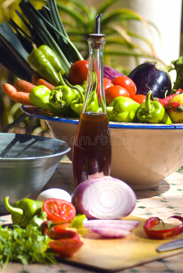 Download Mediterranean Table Scene Stock Image. Image Of Green   3473369