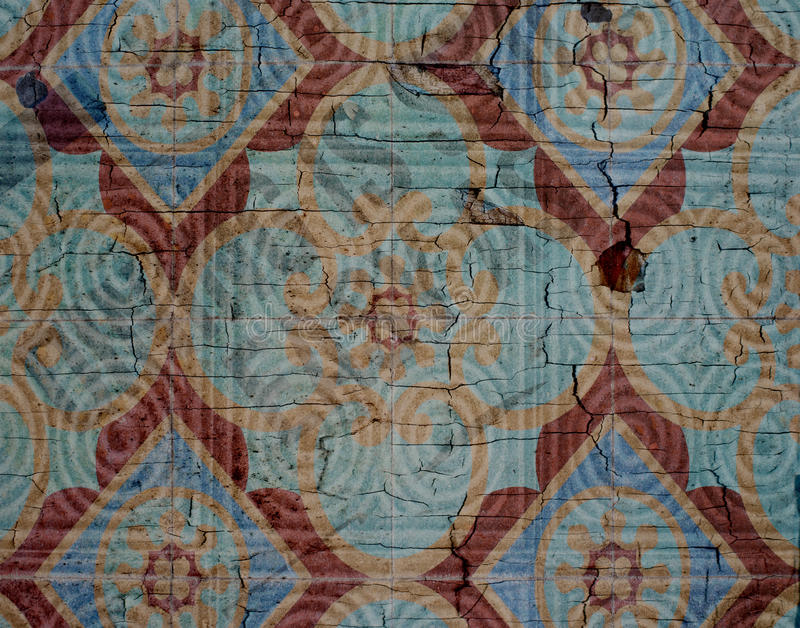Mediterranean Tile Background With Crackle Texture royalty free stock images