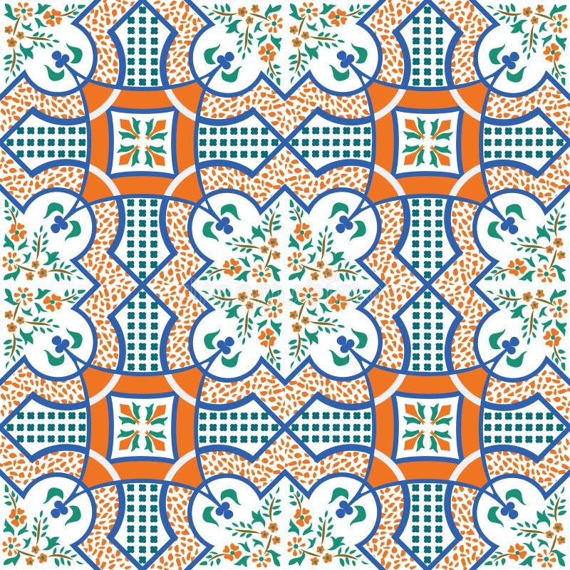 Mediterranean tile. Vector illustration of mediterranean sicilian tile royalty free illustration