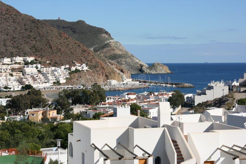 Mediterranean town stock photos