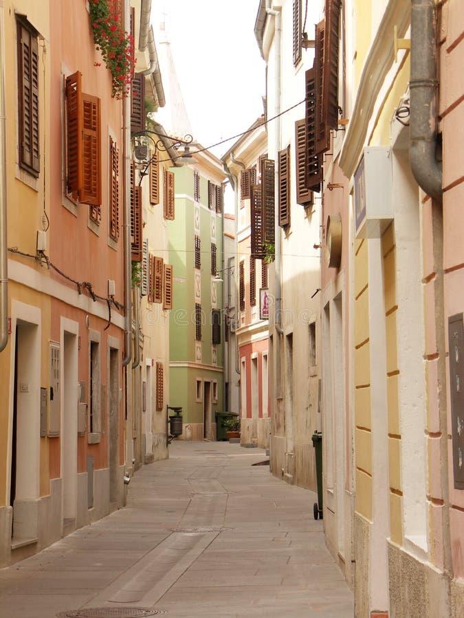 Mediterranean town street stock photography