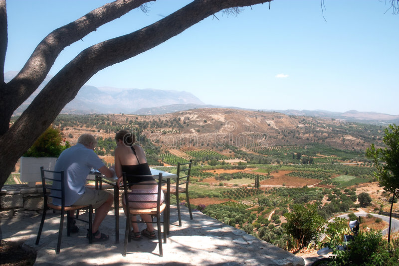 Download Mediterranean vacation stock image. Image of cafe, site - 35631