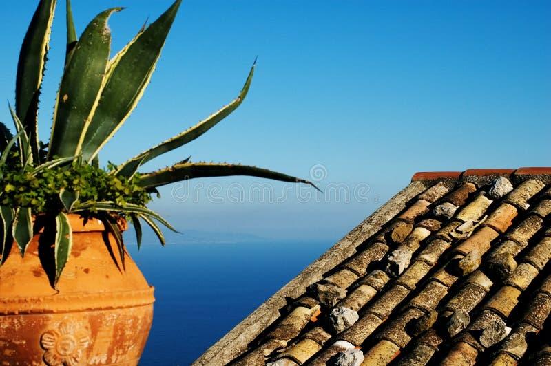 Mediterranean view stock images