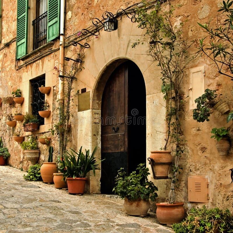 Mediterranean village stock photography