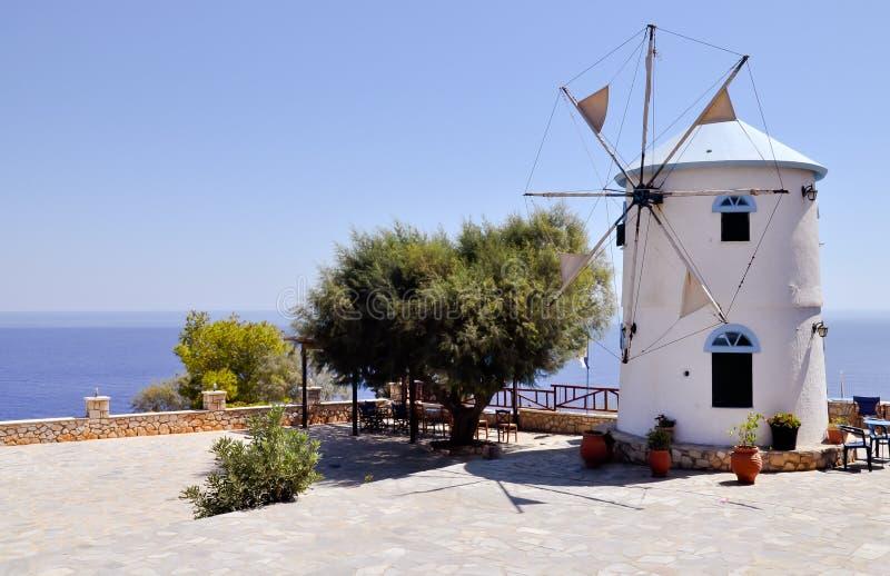 Mediterranean windmill stock photos