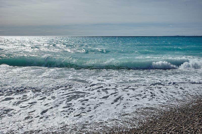 Mediterranian海波浪  库存图片