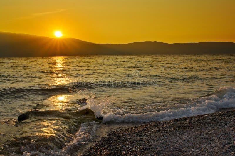 mediterranian ηλιοβασίλεμα θάλασσ& στοκ φωτογραφίες με δικαίωμα ελεύθερης χρήσης
