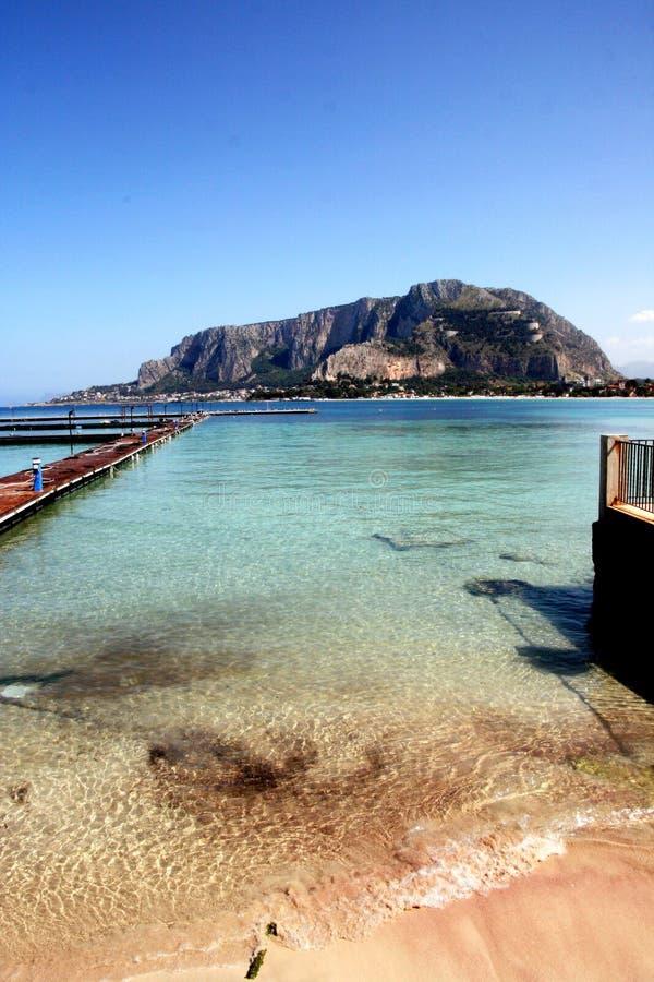 Mediterrean beautiful seascape. Sicily royalty free stock photo