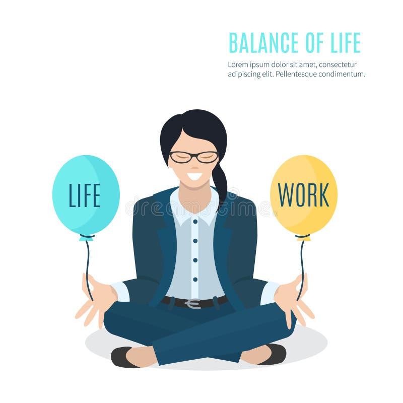 Meditierende Geschäftsfrau stock abbildung