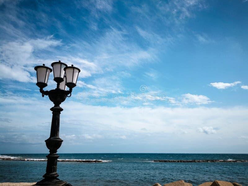 Meditterian sea seen from Bari Italy. Rrem_vivid stock photography
