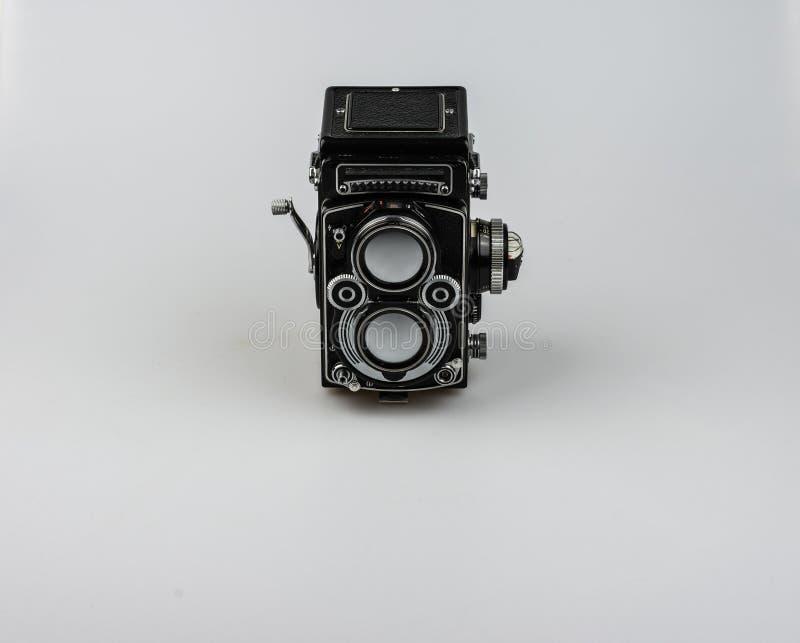 Medium format bioptical camera, analog photography royalty free stock image