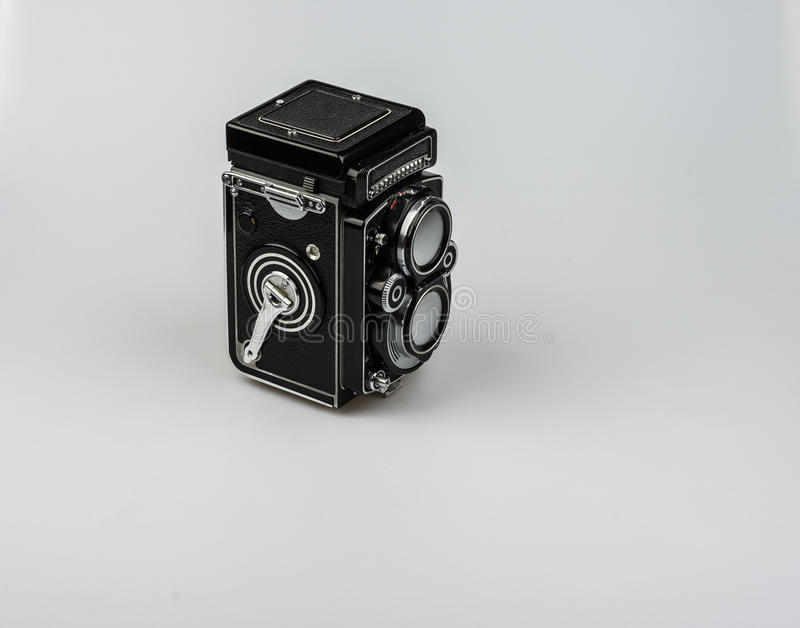 Medium format bioptical camera, analog photography royalty free stock images
