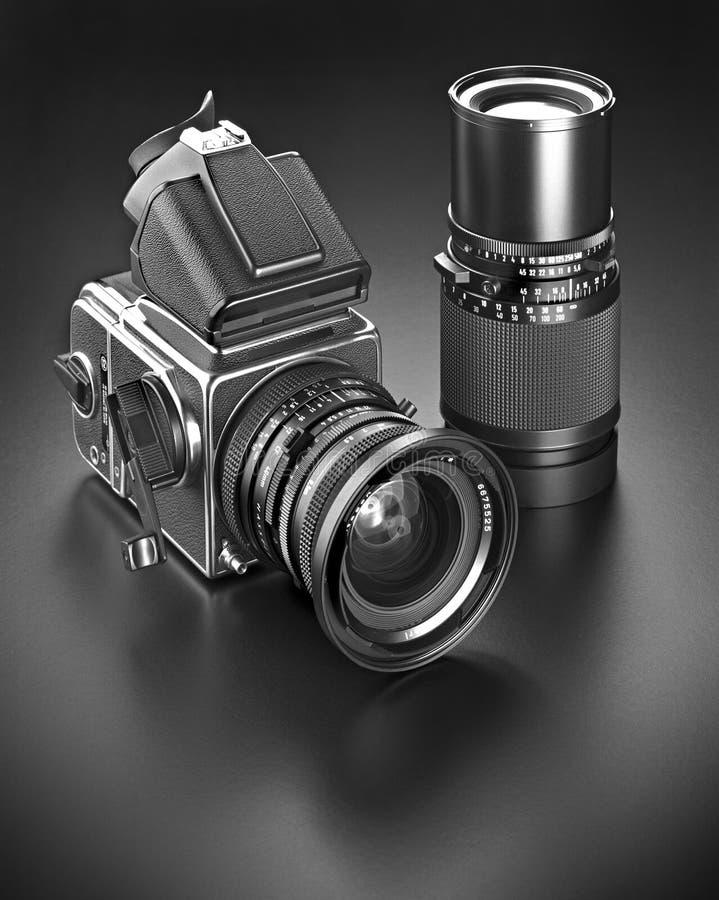 Medium format film camera stock photo