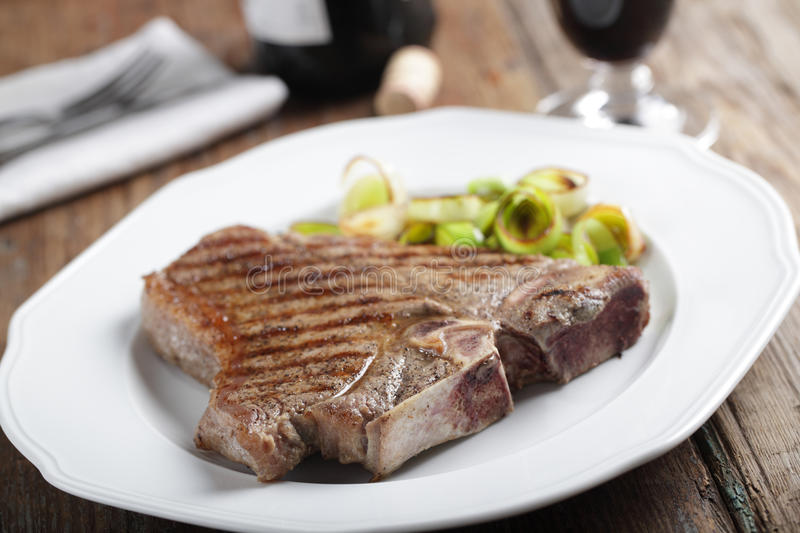 Medium Rare Steak On The Plate Royalty Free Stock Images