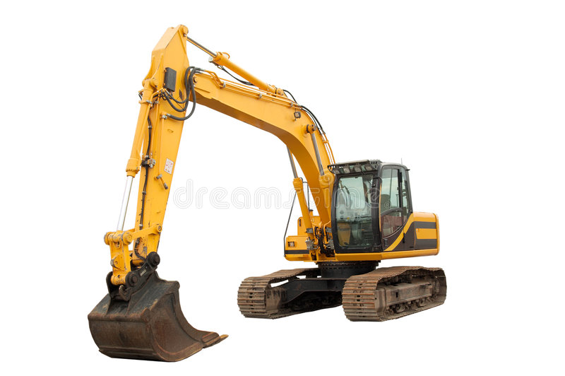 Medium sized Excavator royalty free stock photo