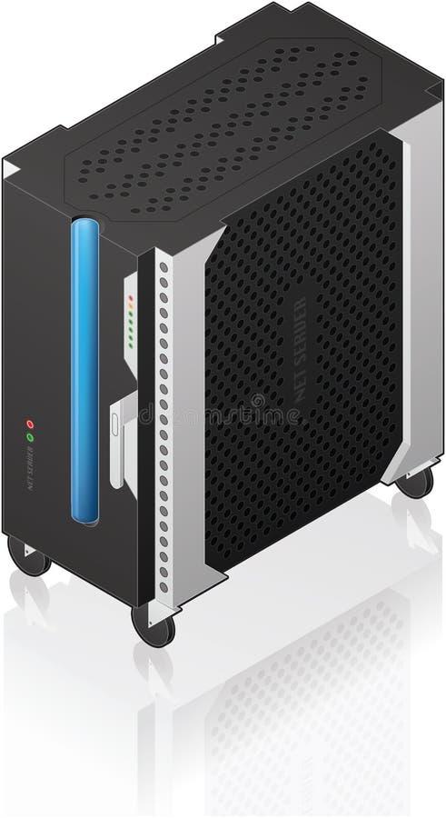 Download Medium Tower Size Server Rack Stock Vector - Image: 18034632