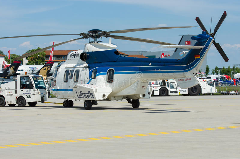 Medium Utility Helicopter Eurocopter AS532 Cougar. royalty free stock photo