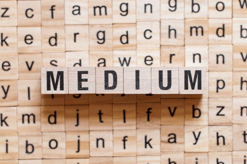 Medium word concept royalty free stock photo
