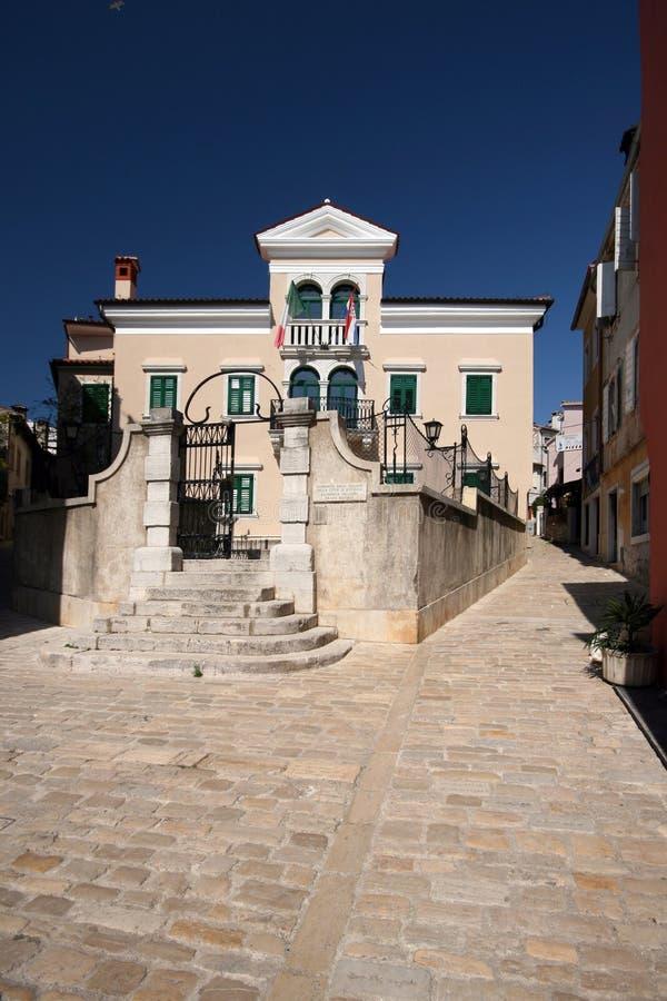 Medival palace in Rovinj stock photo