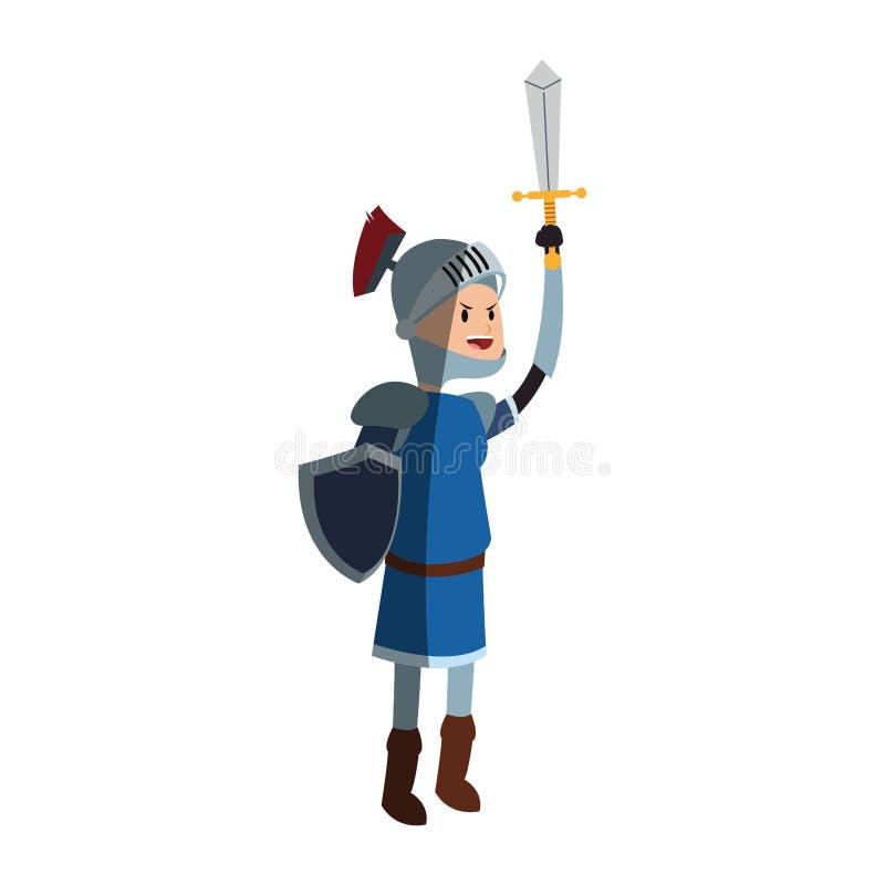 Medival riddaresymbol royaltyfri illustrationer