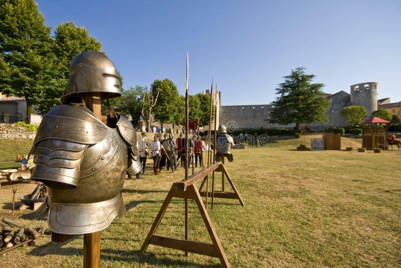 medival s turnering för pansarriddare royaltyfri bild