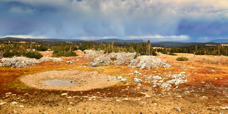 Medizin-Bogen nationaler Forest Storm Clouds lizenzfreie stockfotografie