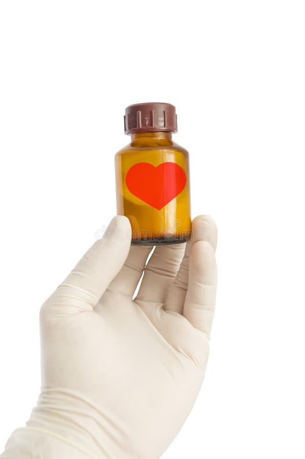 Medizin für das verliebte stockfotos