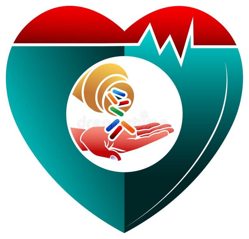Medizin mit Herzen stock abbildung