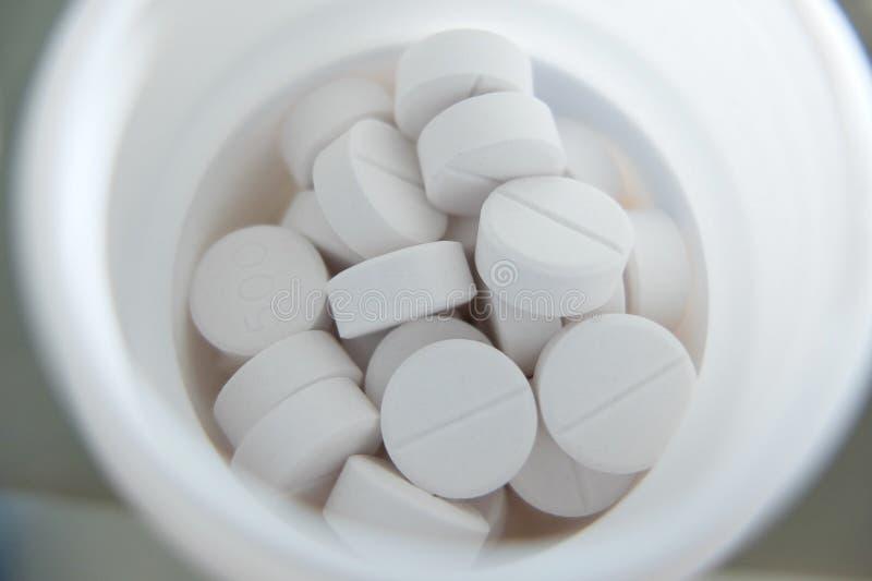 Medizin, Paracetamol in der Flasche lizenzfreies stockbild