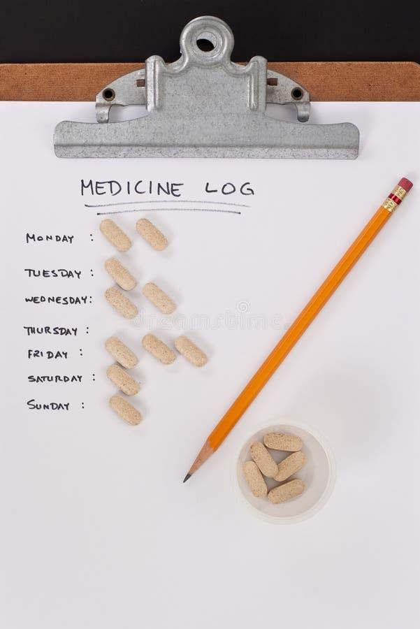 Medizin-Protokoll-Blatt des Patienten lizenzfreie stockbilder