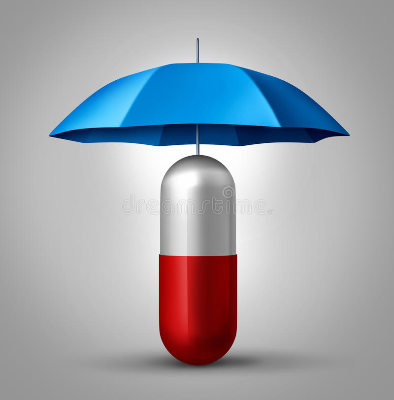 Medizin-Schutz stock abbildung