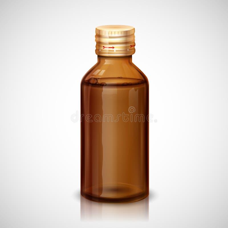 Medizin-Sirup-Flasche vektor abbildung